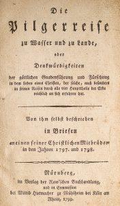Titelseite der Originalausgabe von Stahlschmidts Reisebericht von 1799 (Vorlage: Thomas Ijewski)
